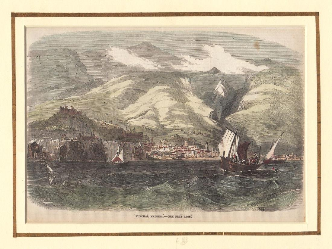 Illustrated London News: View of Funchal, Madeira 1857