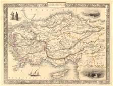 Tallis/Rapkin: Antique Map of Asia Minor, 1851