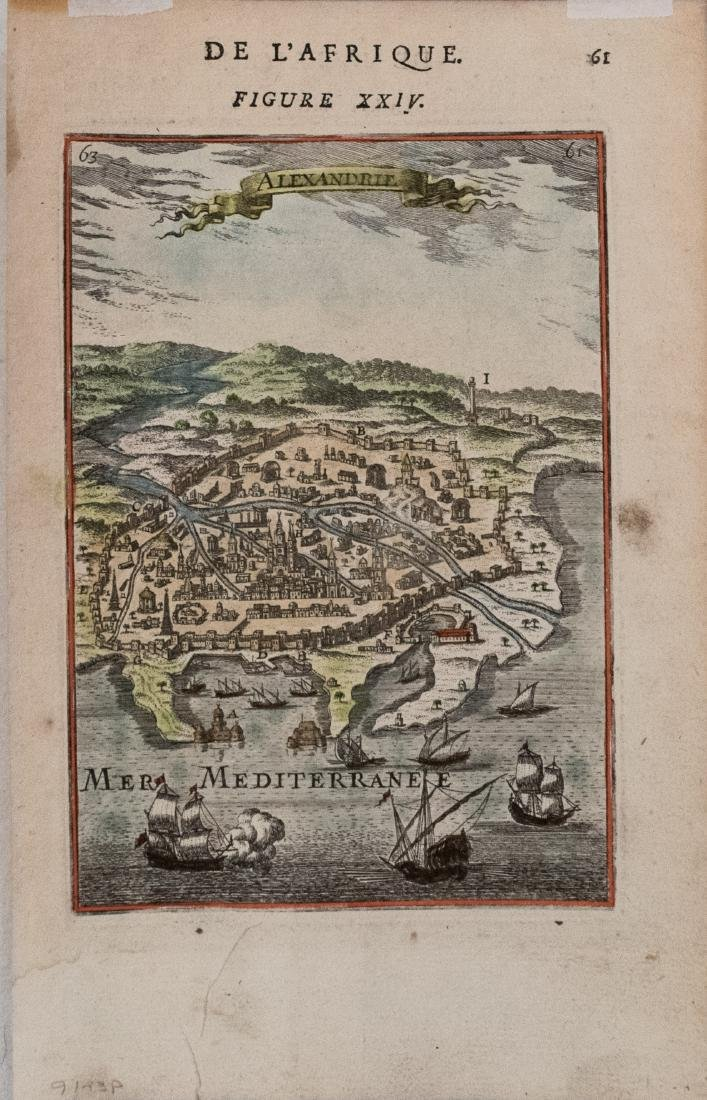Manesson-Mallet: Antique Map of Alexandria, Egypt, 1683