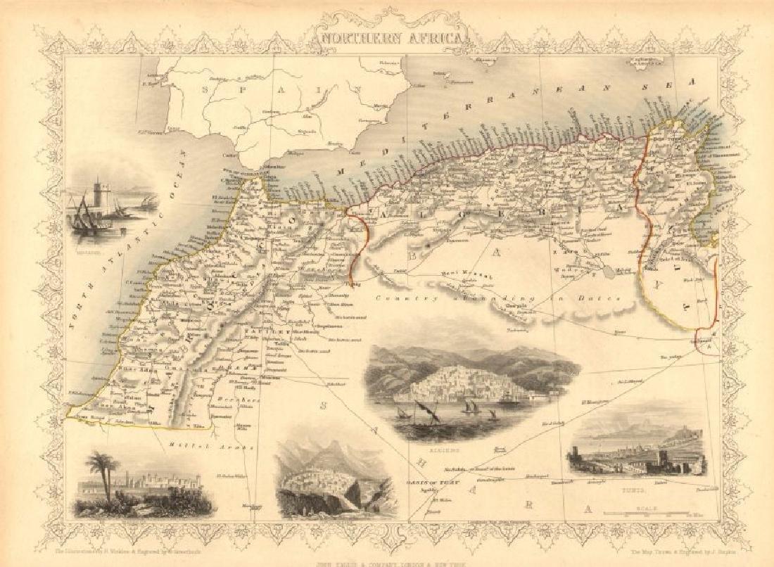 Tallis/Rapkin: Antique Map of Northern Africa, 1851