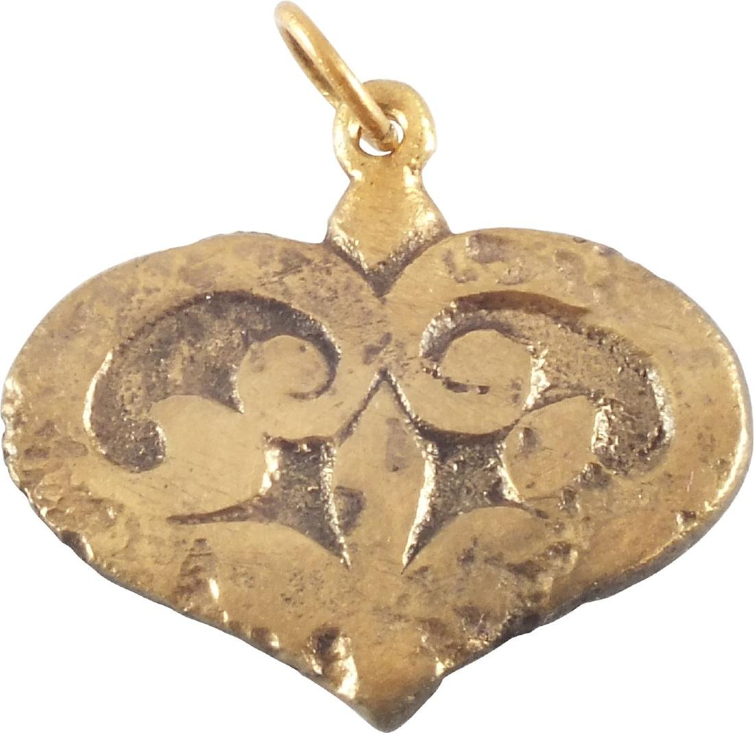 GOOD LARGE VIKING HEART PENDANT 9th-10th CENTURY