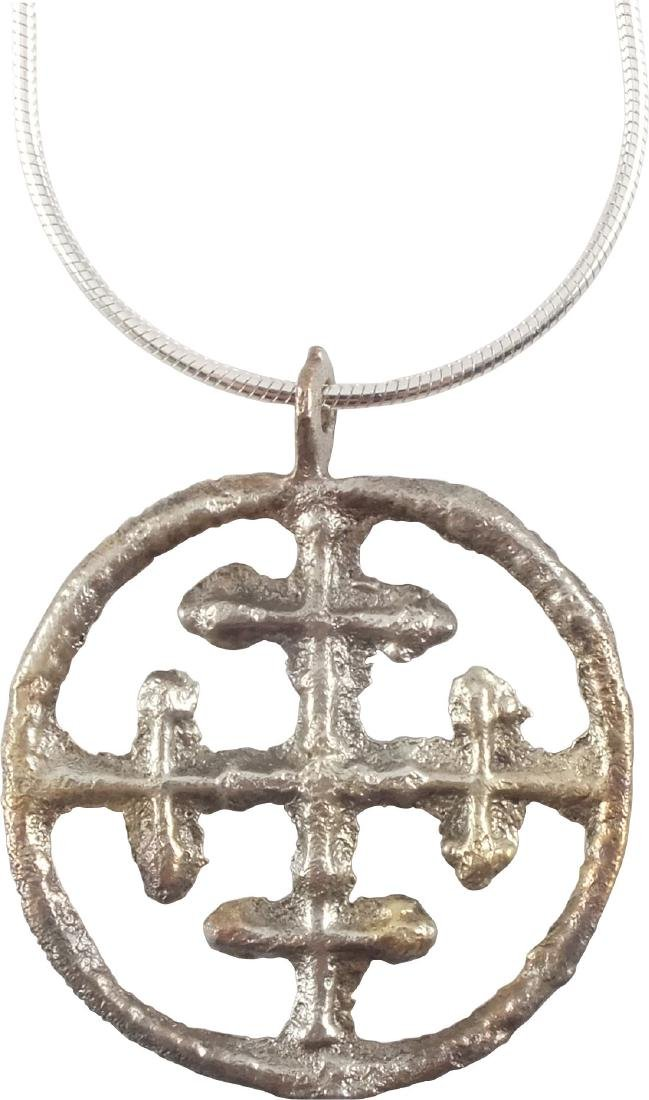 FINE CRUSADER CROSS PENDANT 11th-13th CENTURY