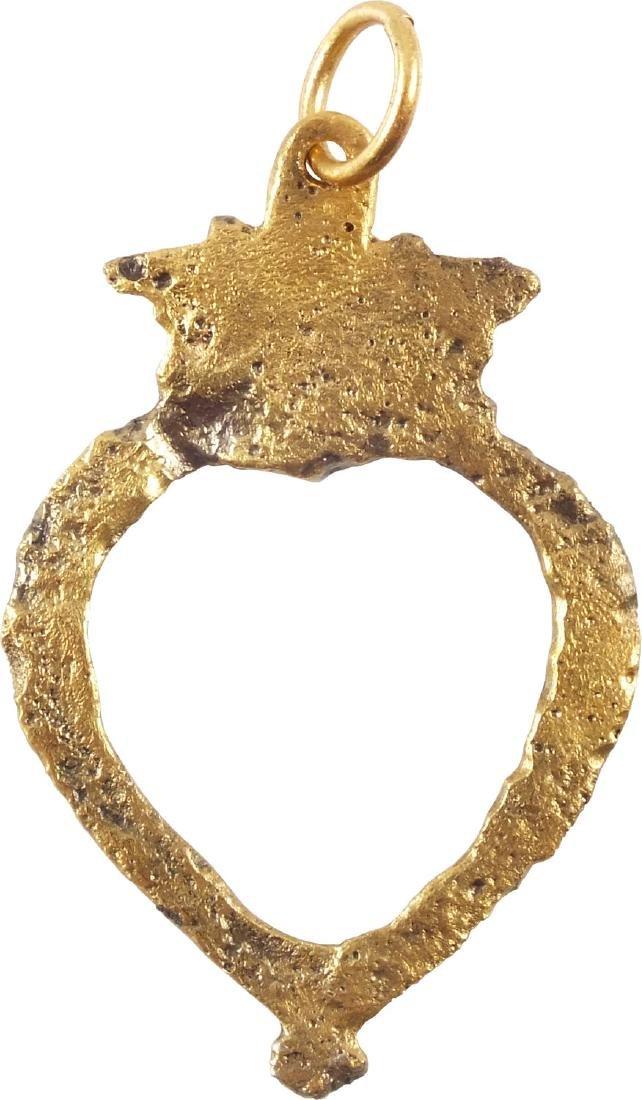 FABULOUS VIKING HEART PENDANT C.850-1050 AD - 2