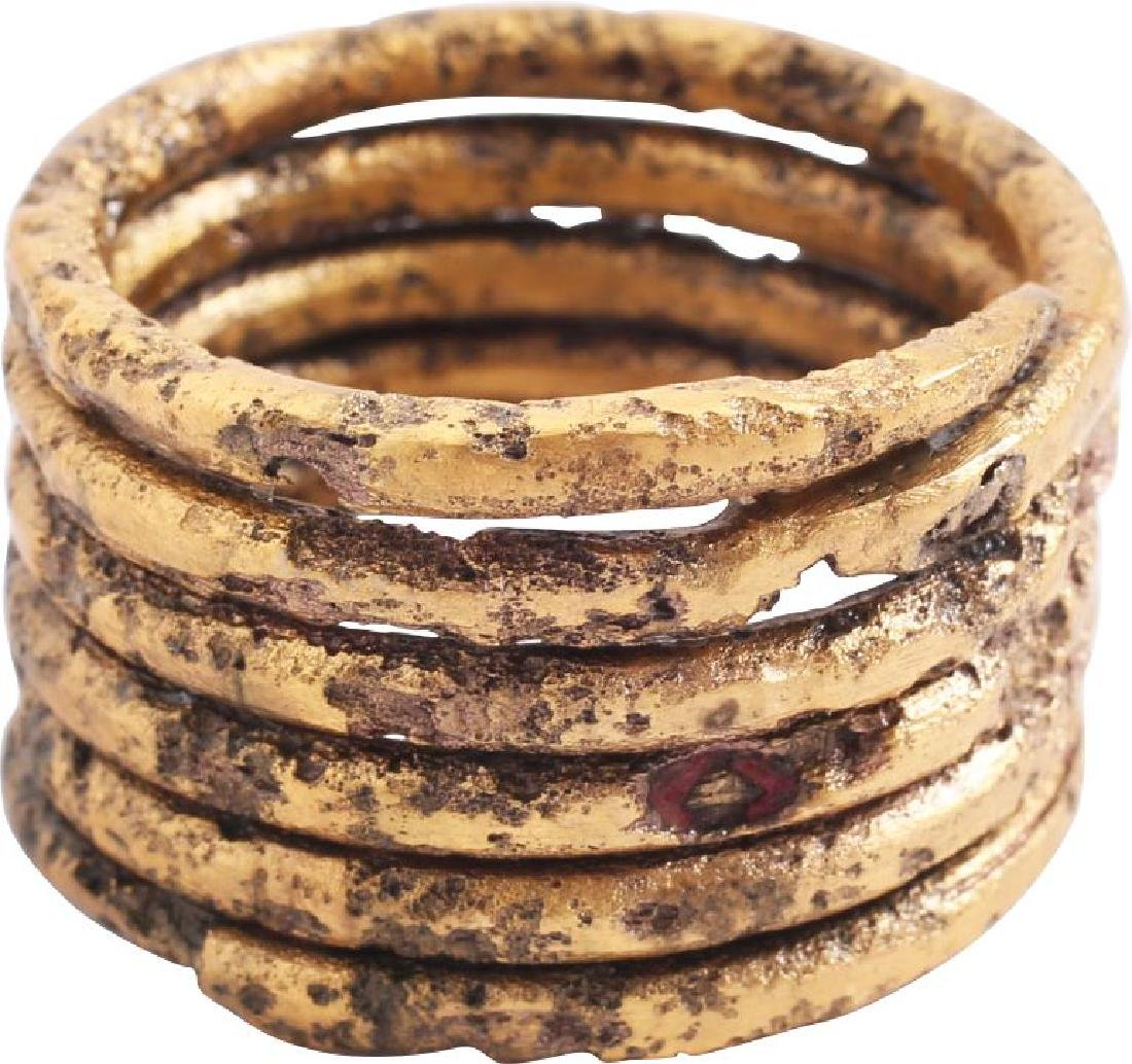 FINE VIKING COIL RING 10th-11th CENTURY AD