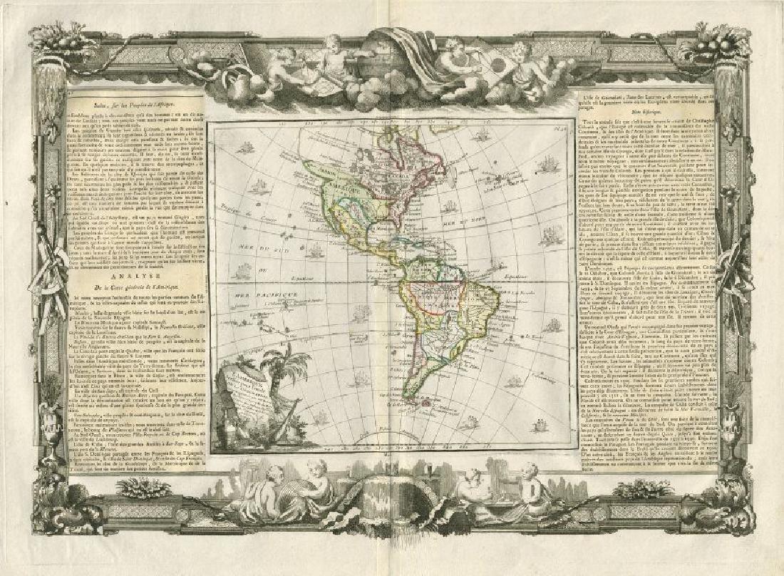 Desnos/de la Tour: Antique Map North & South Americas