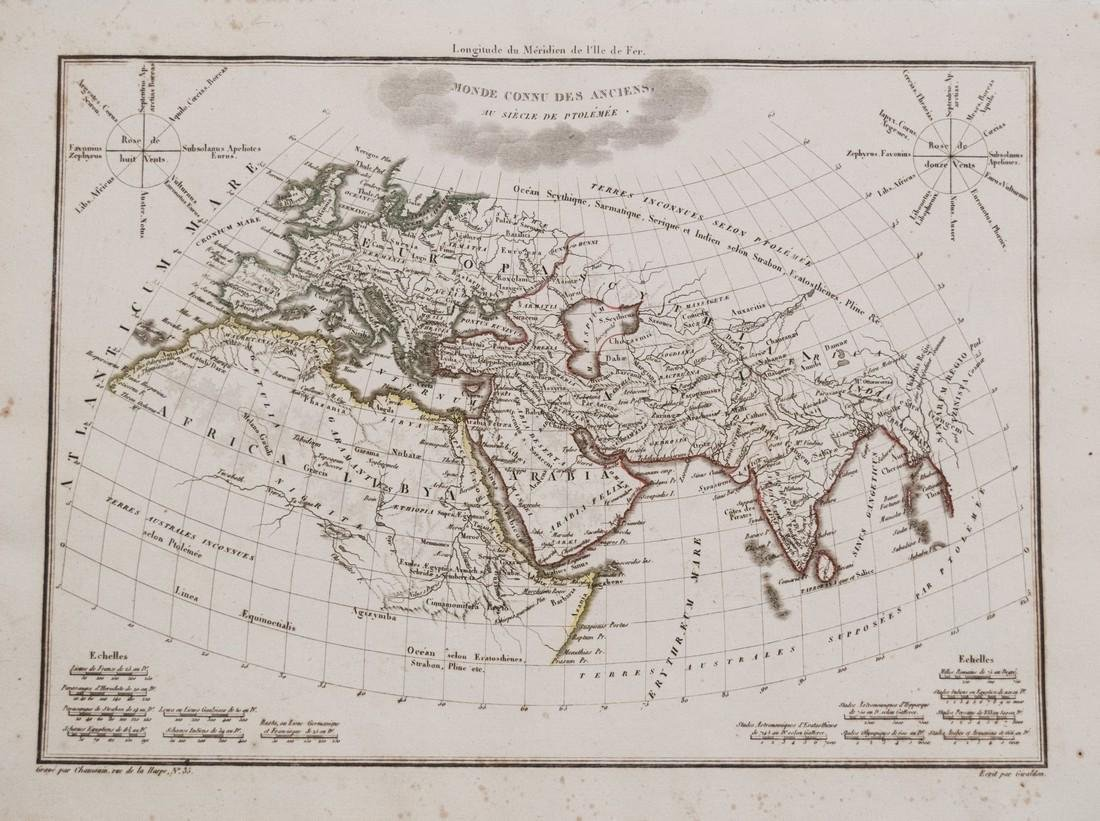 Malte-Brun: Antique Map of Ancient Civilized World 1812