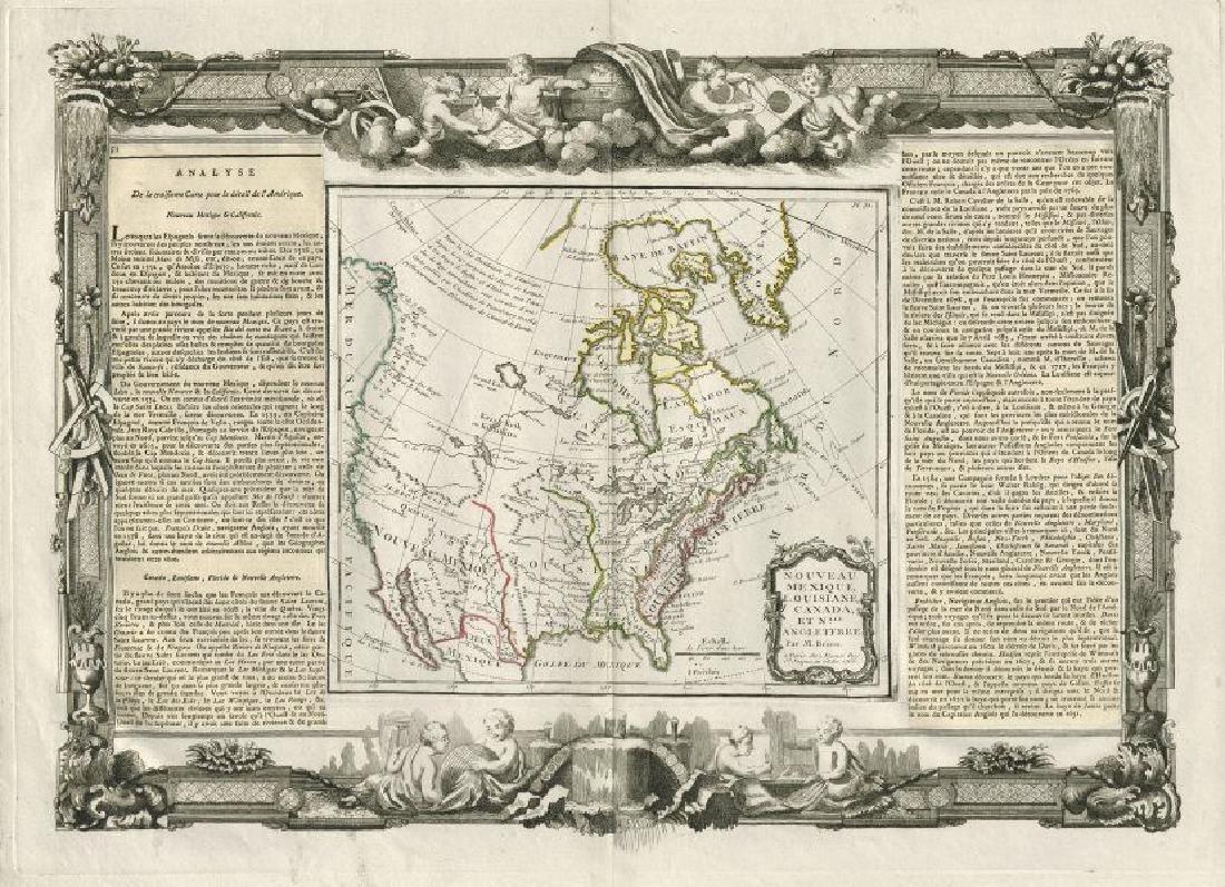 Desnos/de la Tour: Antique Map of North America, 1771