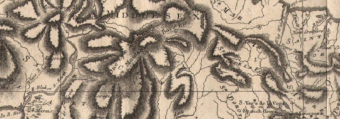 Bonne: Antique Map of Jamaica, 1780 - 2