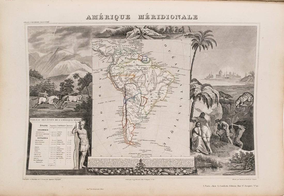 Levasseur: Antique Map of South America, 1852