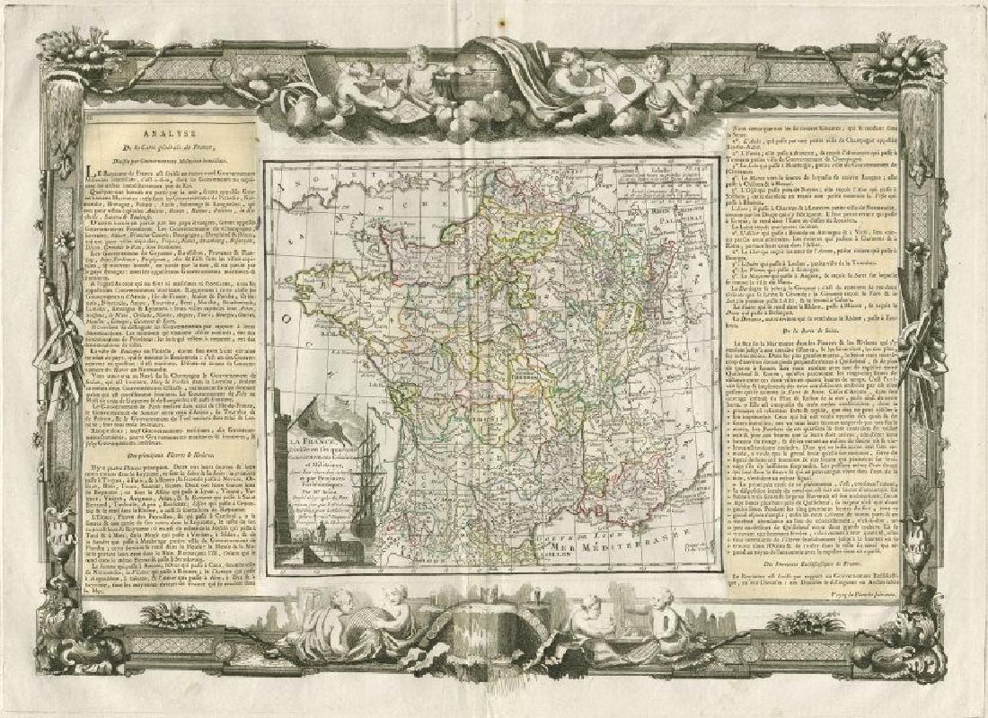 Desnos/de la Tour: Antique Map of France, 1771