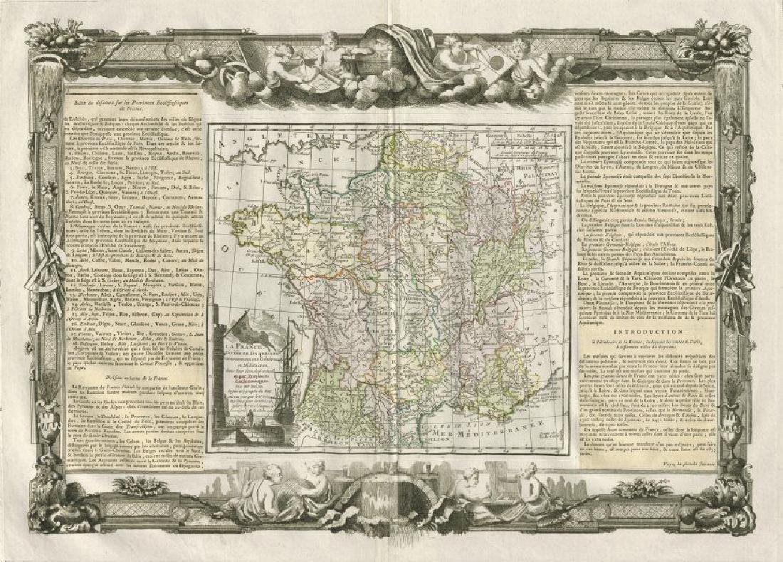 Desnos/de la Tour: Antique Map Ecclestiastical France
