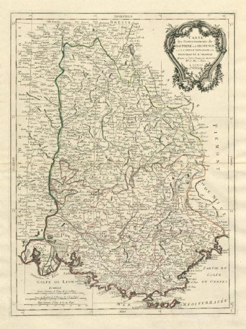 Santini/Bonne: Antique Map of Dauphiny, 1784