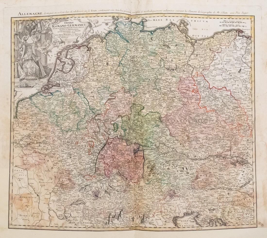 Homann: Antique Map of Germany, Poland, Austria 1753