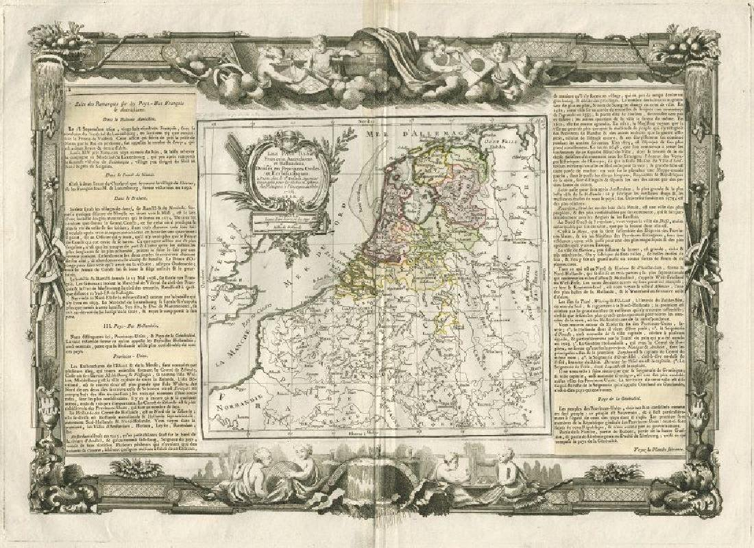 Desnos/de la Tour: Antique Map of Netherlands & Belgium