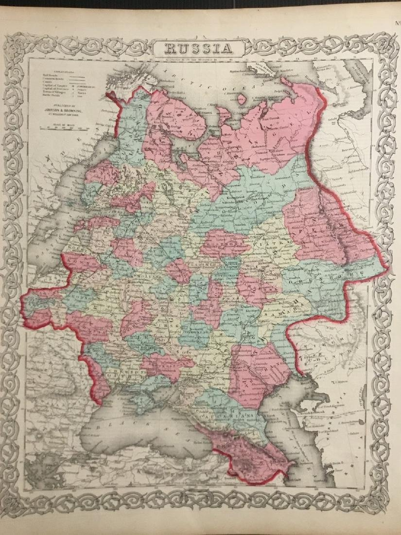 Colton: Antique Map of Russia, 1859
