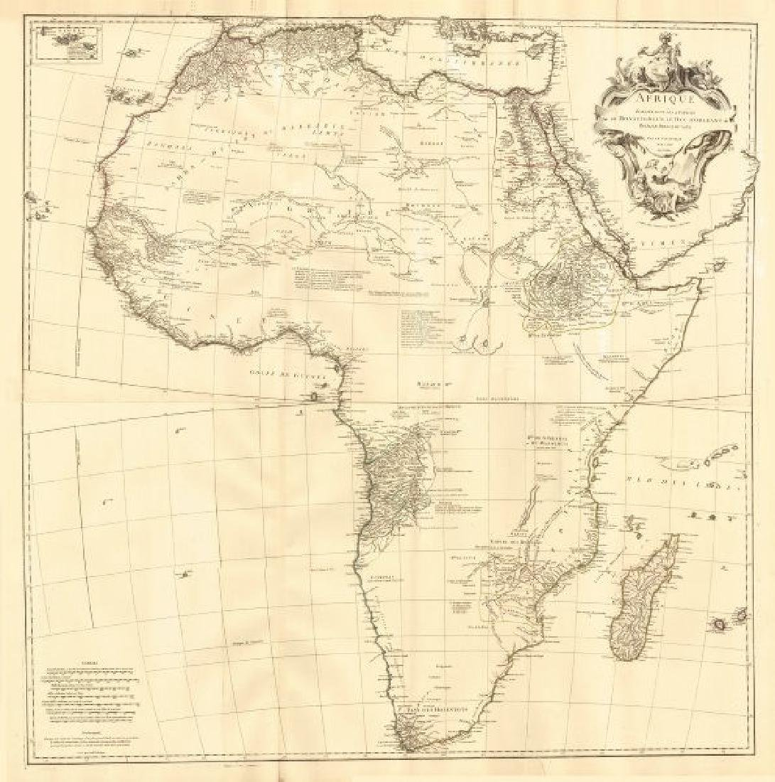 d'Anville: Antique Map of Africa, 1749