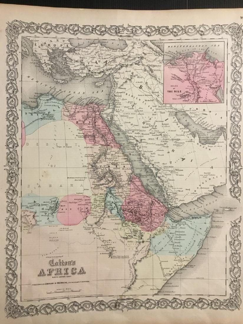 Colton: Antique Map of North Eastern Africa, 1859