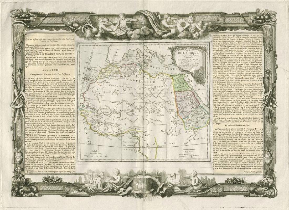 Desnos/de la Tour: Antique Map of North Africa, 1771