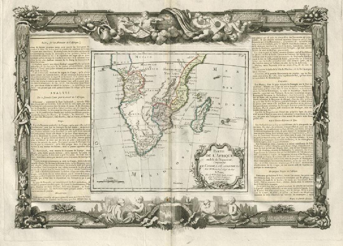 Desnos/de la Tour: Antique Map of Southern Africa 1771