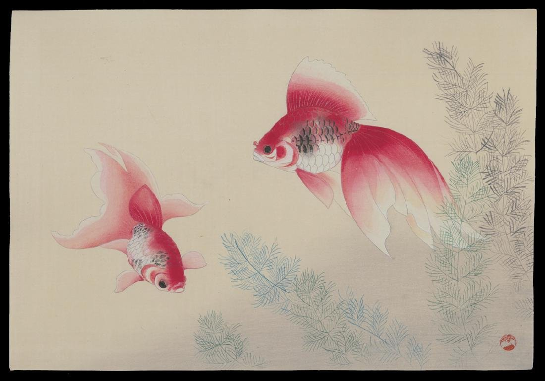 20th Century Japanese School Woodblock Goldfish