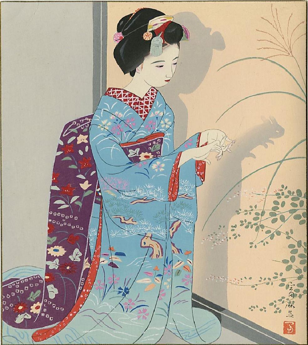 Higuchi Tomimaro Woodblock Spring, Summer, Fall, Winter - 2