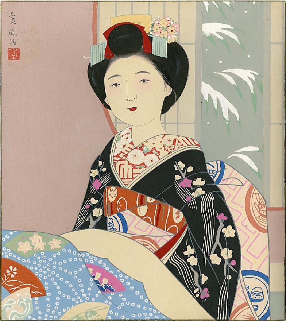 Higuchi Tomimaro Woodblock Spring, Summer, Fall, Winter - 4