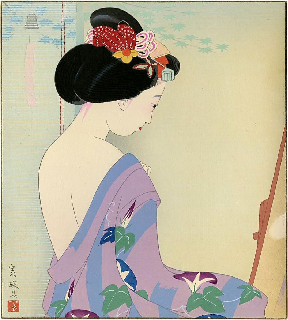 Higuchi Tomimaro Woodblock Spring, Summer, Fall, Winter - 6
