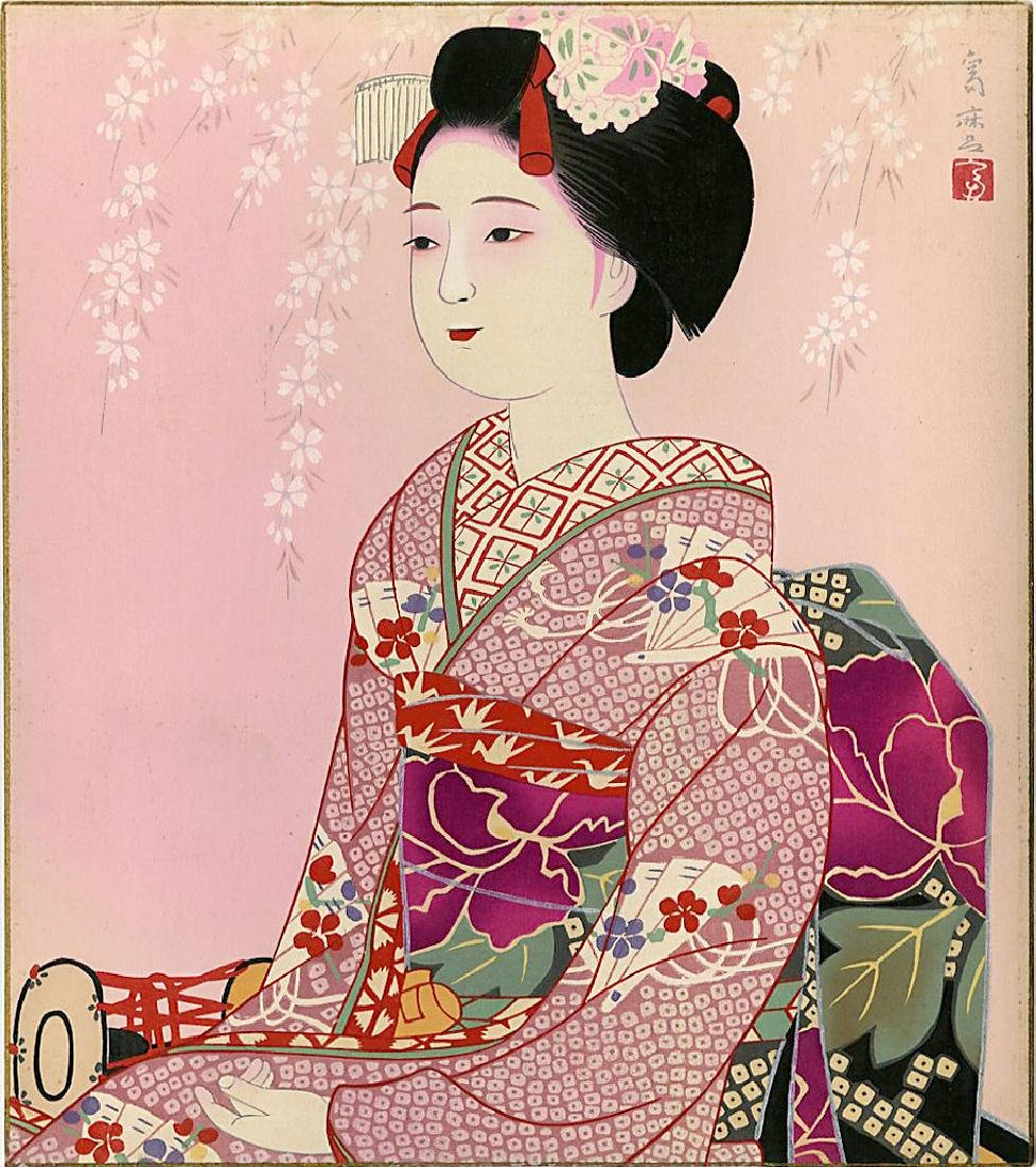 Higuchi Tomimaro Woodblock Spring, Summer, Fall, Winter - 8