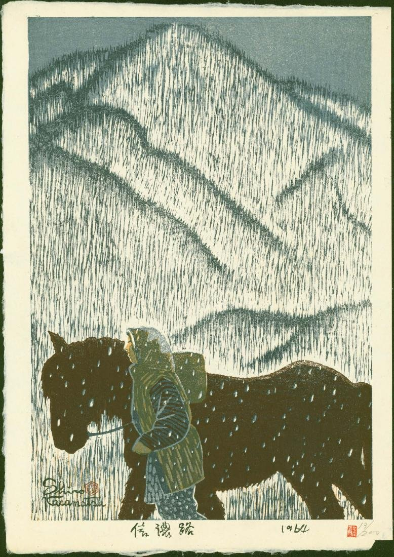 Shiro Kasamatsu Limited Edition Woodblock Shinano Road