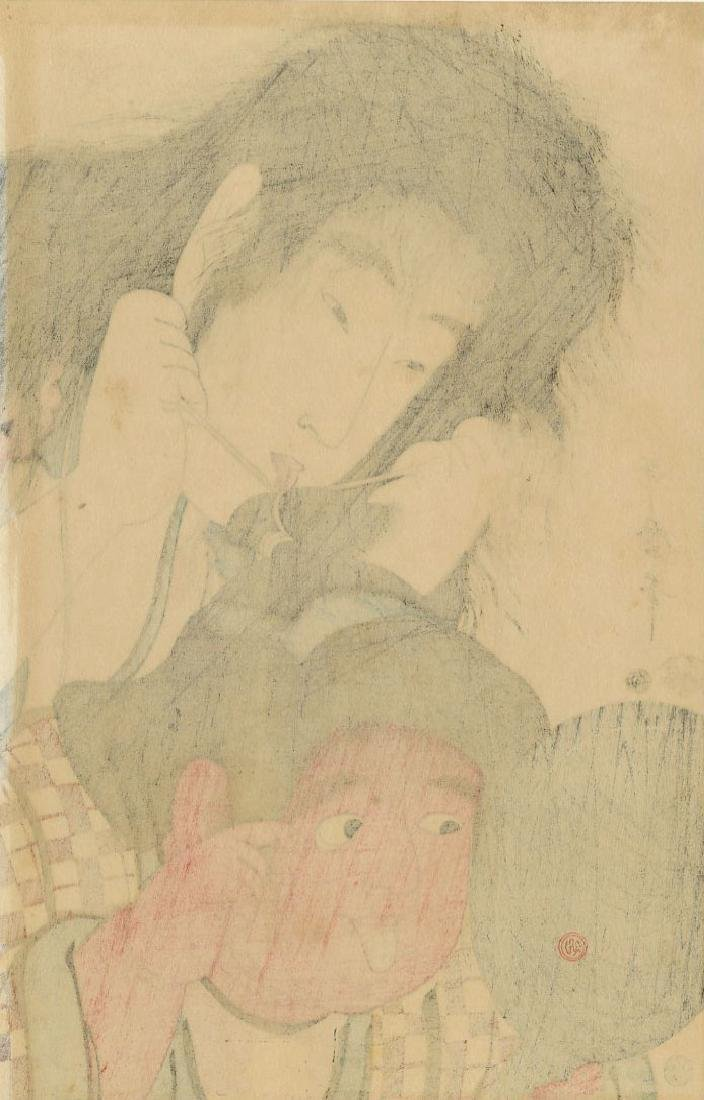 Utamaro Kitagawa Woodblock Yamauba and Kintaro - 2