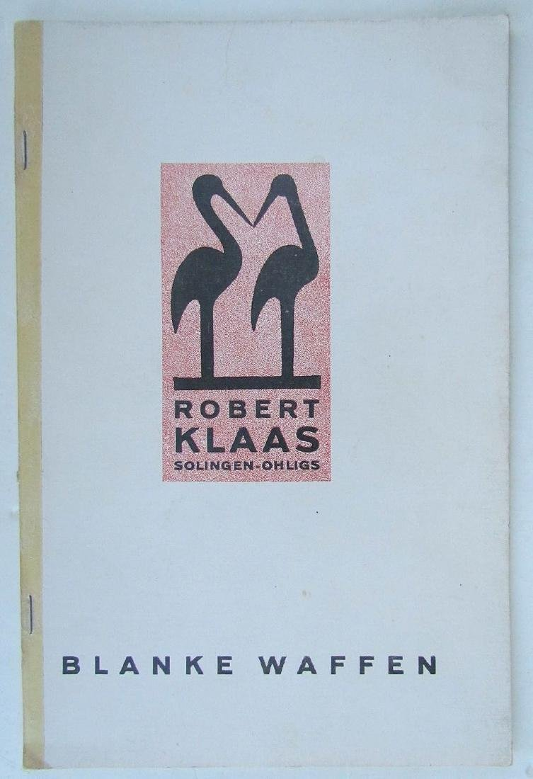 Robert Klaas Solingen 1938 Rare Manufacture Catalog