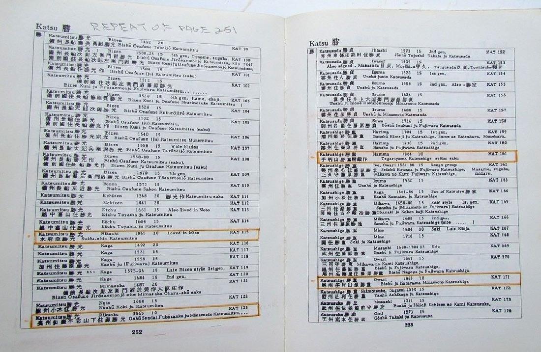 Japanese Swordsmiths Revised 1981 Reference Book - 4