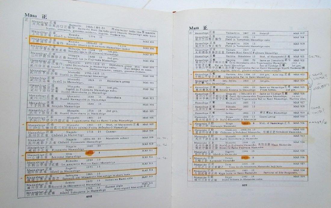 Japanese Swordsmiths Revised 1981 Reference Book - 5
