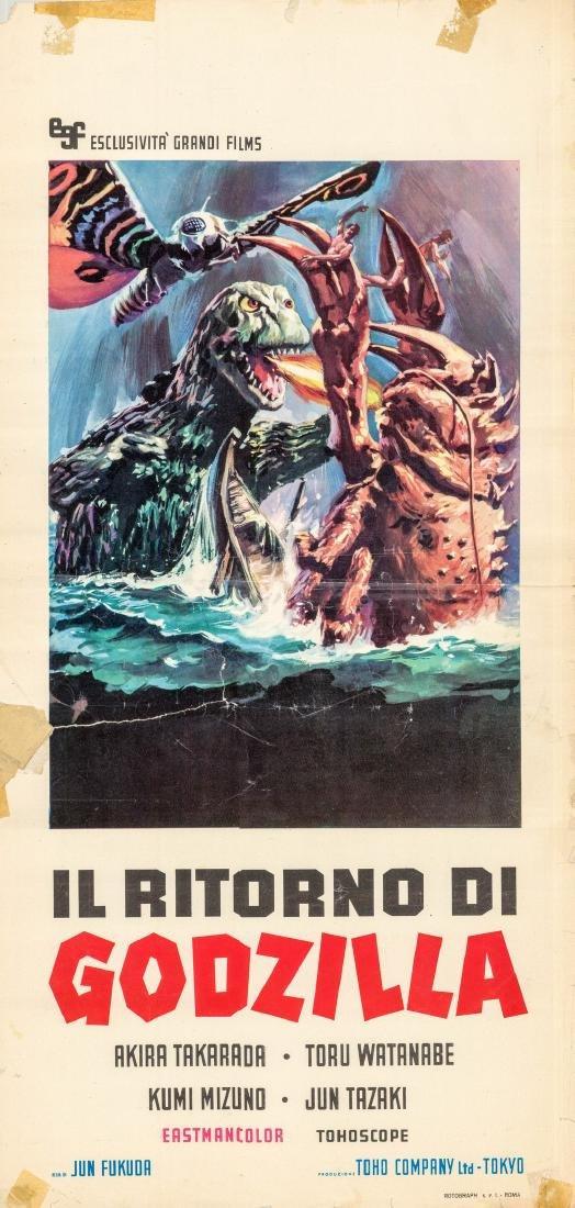 Godzilla Vs. the Sea Monster 1966 Itallian Locandina