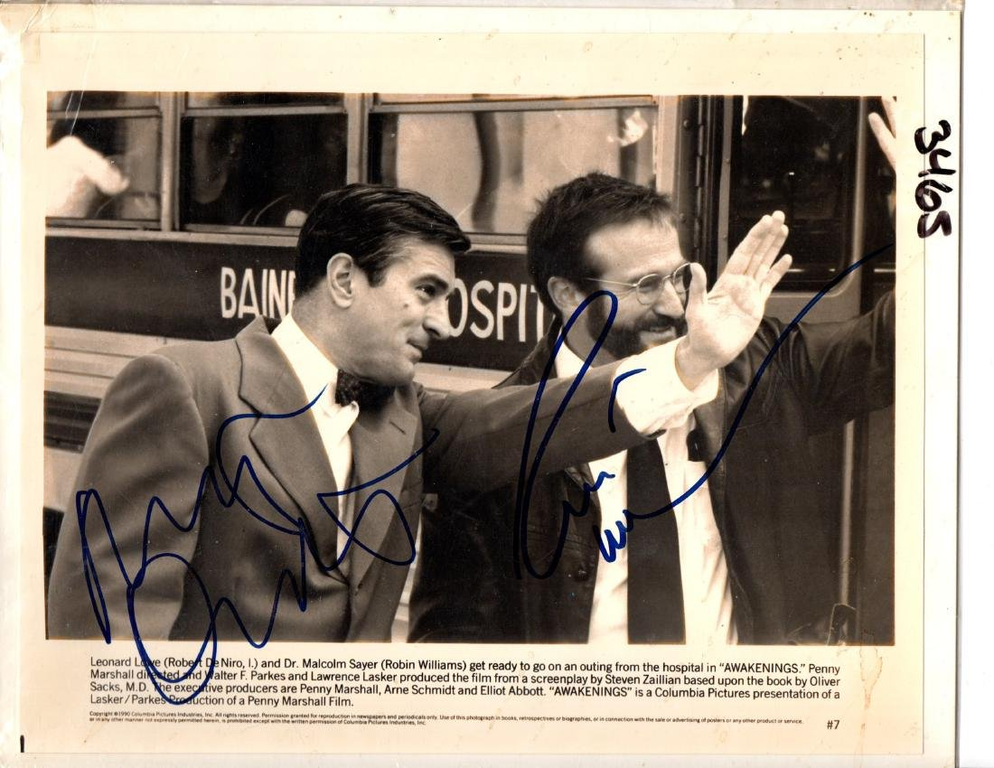 Robert Deniro and Robin Williams Signed by Both - 2