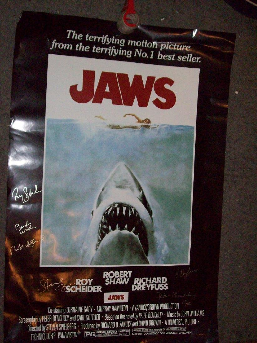 Jaws Signed Poster