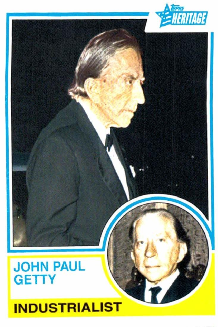 2009 Topps Heritage John Paul Getty Industrialist