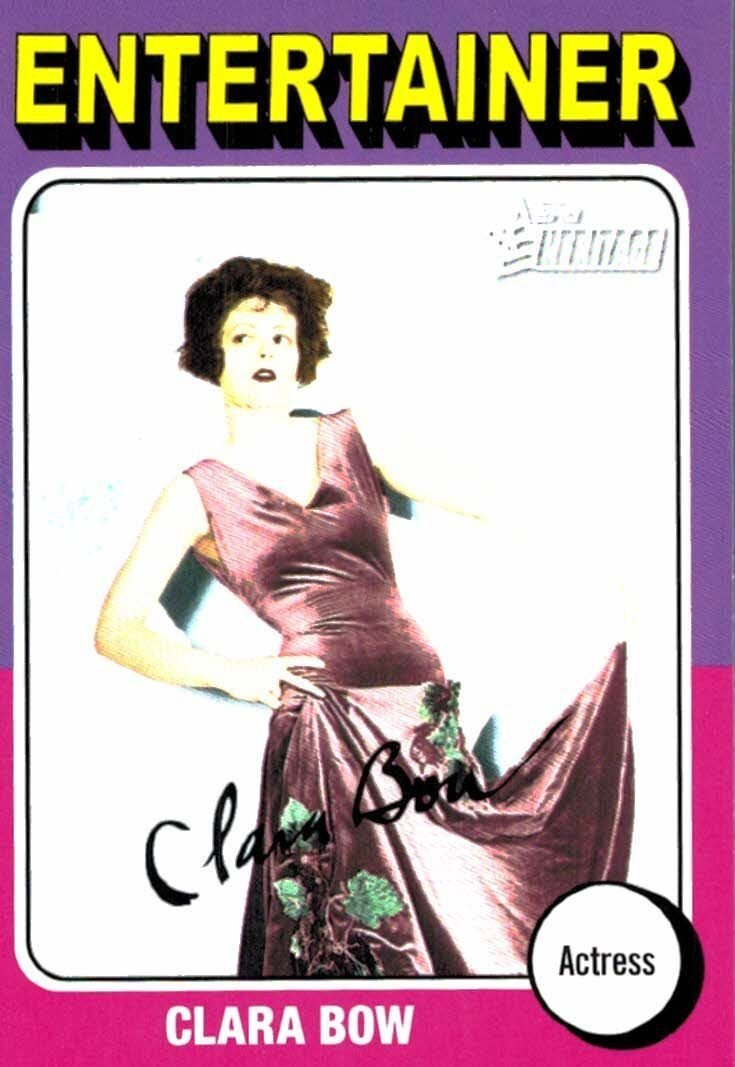 2009 Topps Heritage Clara Bow Entertainer Actress