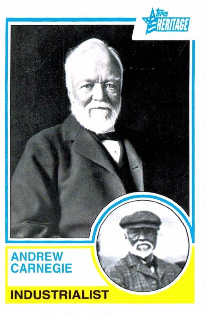2009 Topps Heritage Andrew Carnegie Industrialist