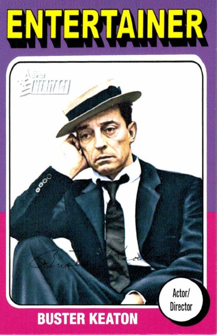 2009 Topps Heritage Buster Keaton Entertainer Actor