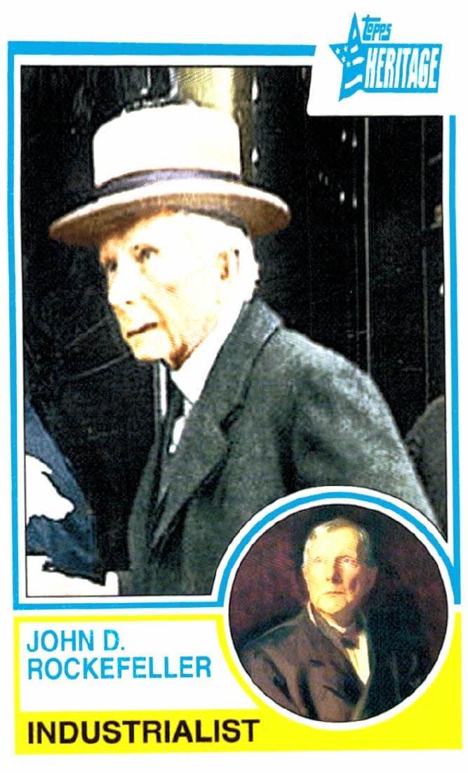 2009 Topps Heritage John D Rockefeller Industrialist