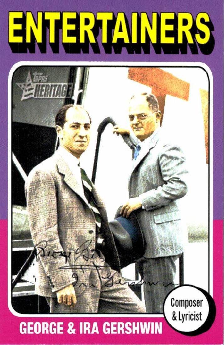 2009 Topps Heritage George & Ira Gershwin Composer &