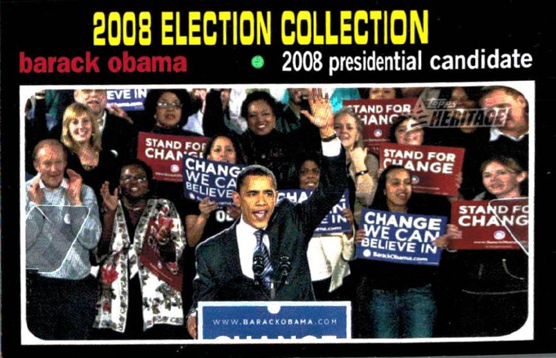 2009 Topps Heritage Barack Obama Presidential Candidate