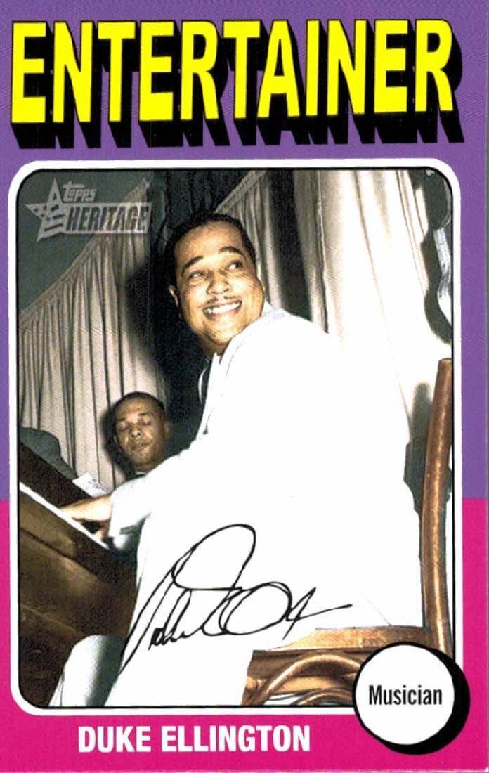 2009 Topps Heritage Duke Ellington Entertainer Musician