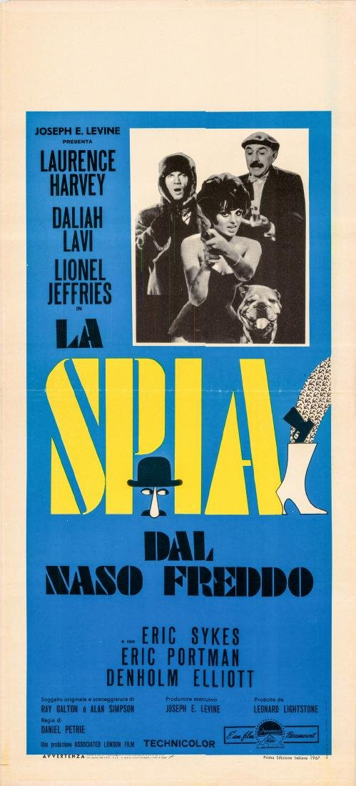 The Spy With a Cold Nose R1967 Italian Locandina