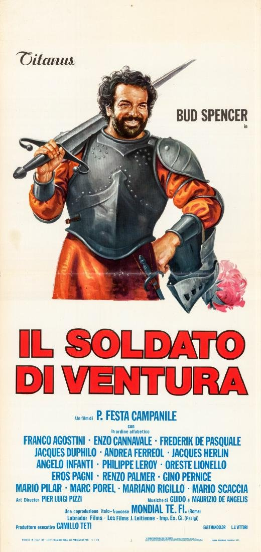 Soldier of Fortune 1976 Bud Spencer Italian Locandina