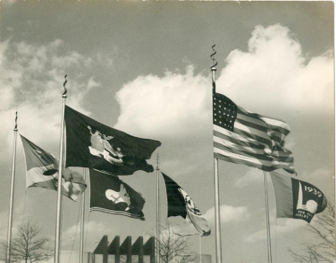 Flags 1939 Photograph
