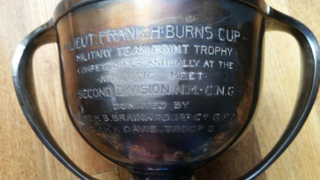 1917 Shooting Trophy Gorgeous Design Lieutenant Frank - 2