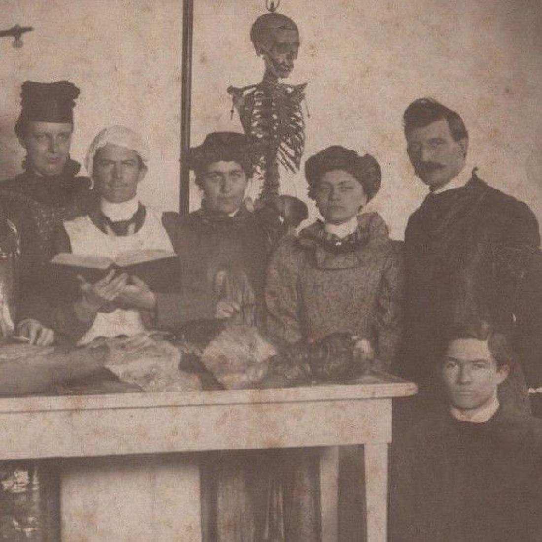 Antique 1899 Medical School Cadaver Women Students