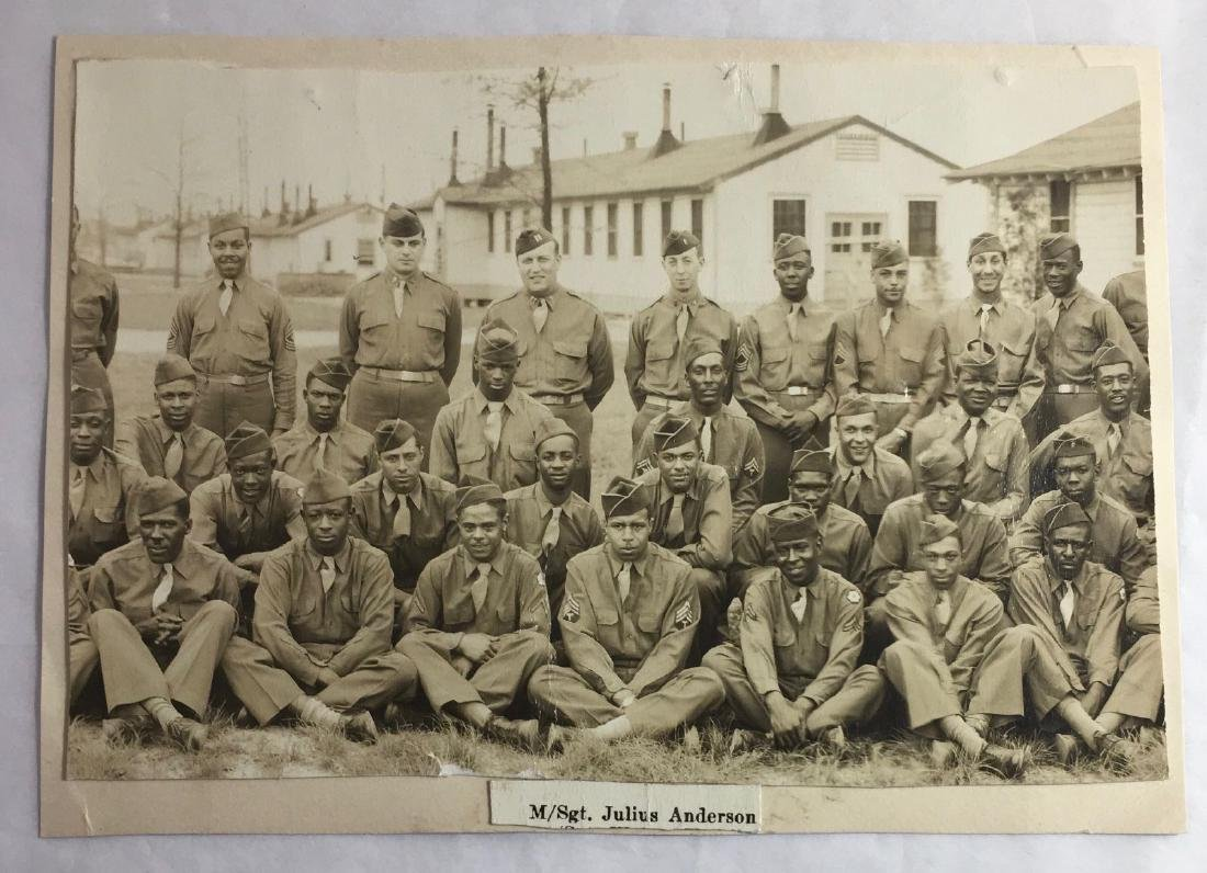 Vintage c1940s/50s African American Army Photo
